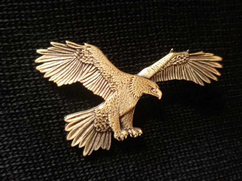Brass Eagle Pin