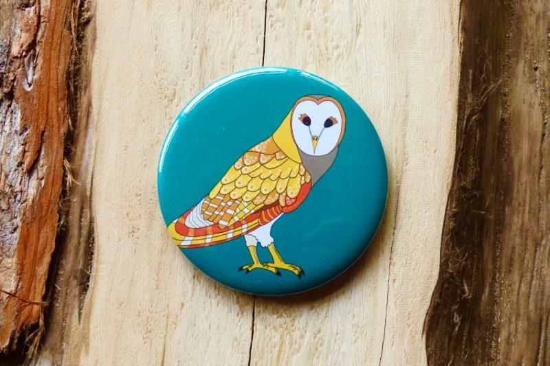 Masked Owl Bottle Opener Magnet